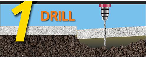 drill concrete